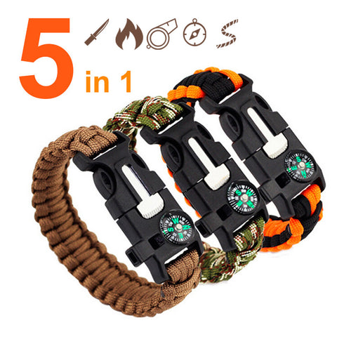 Paracord 5 in 1 survival bracelet (w fire starter)