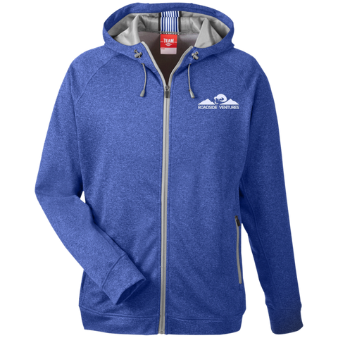 Team 365 Men's Heathered Performance Hooded Jacket