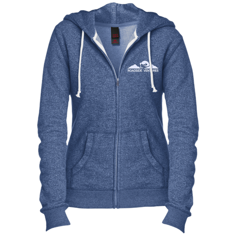 Juniors' Custom Embroidered Fitted Full-Zip Hoodie