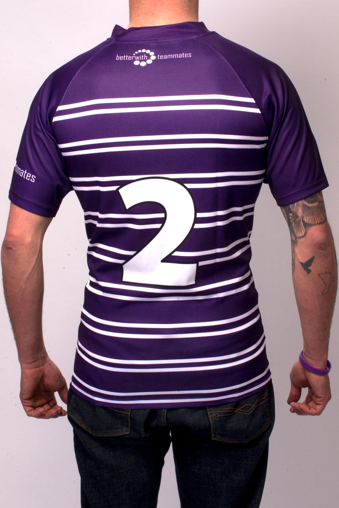 See Purple Think Rugby jersey