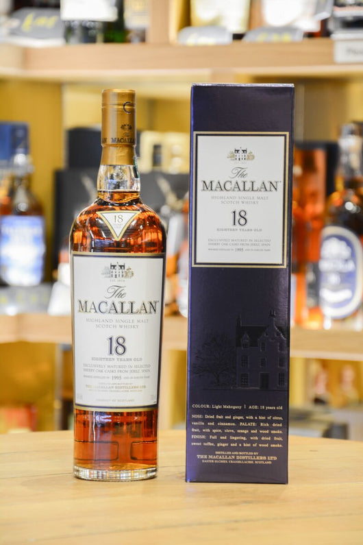 Macallan 18 Year Old Sherry Oak 1995 Front