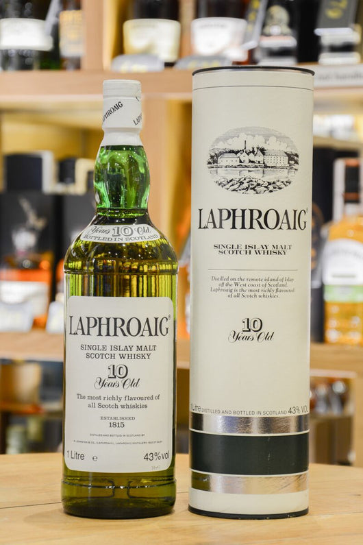 Laphroaig 10 Year Old (1L) Front