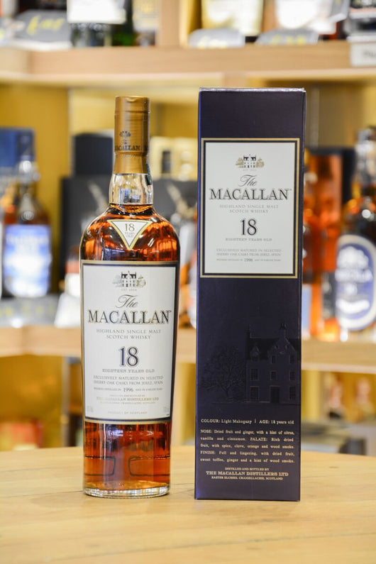 Macallan 18 Year Old Sherry Oak 1996