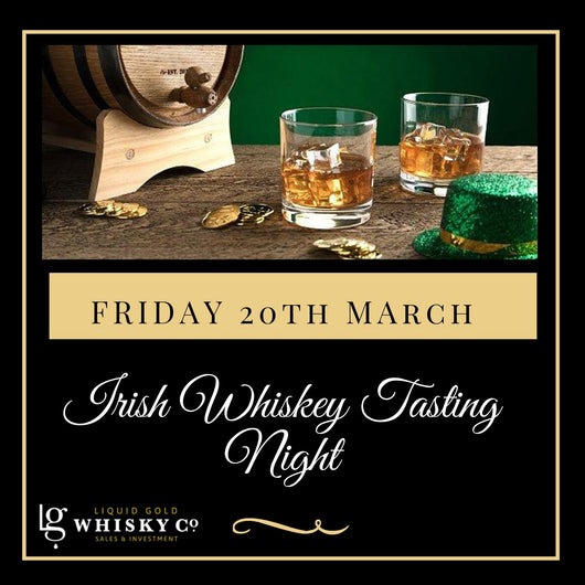 Irish Whiskey Tasting (St.Patricks Day!) Friday 20th March (POSTPONED)