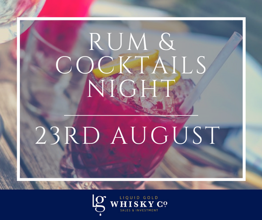 Rum & Cocktails Night - 23rd August 2019