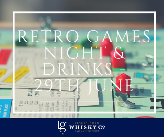 Retro Games Night & Drinks with Monopoly board game