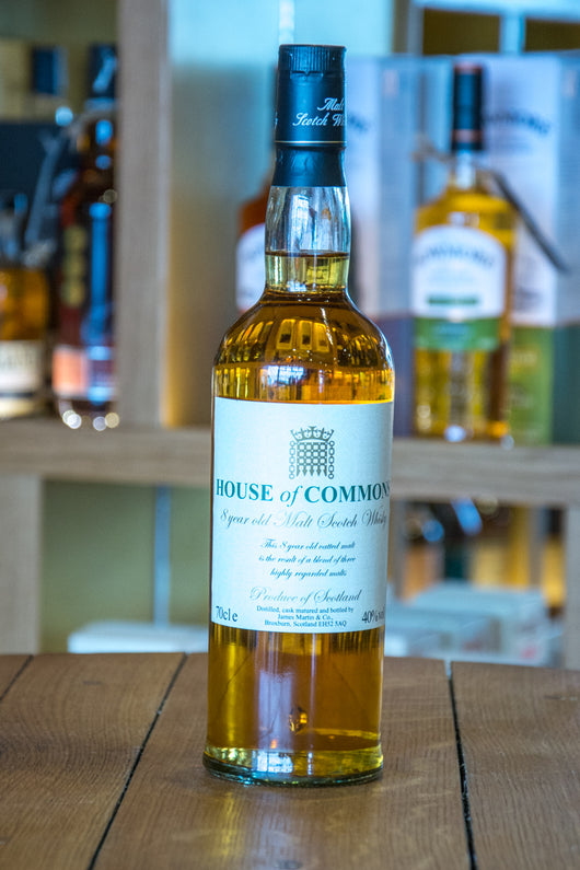 House of Commons 8 year old Single Malt Scotch Whisky Front