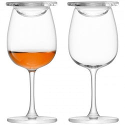 Whisky Islay Nosing Glass & Glass Cover X 2