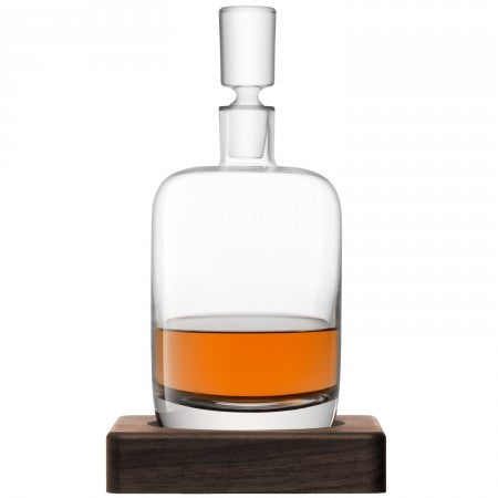 Whisky Renfrew Decanter & Walnut Base