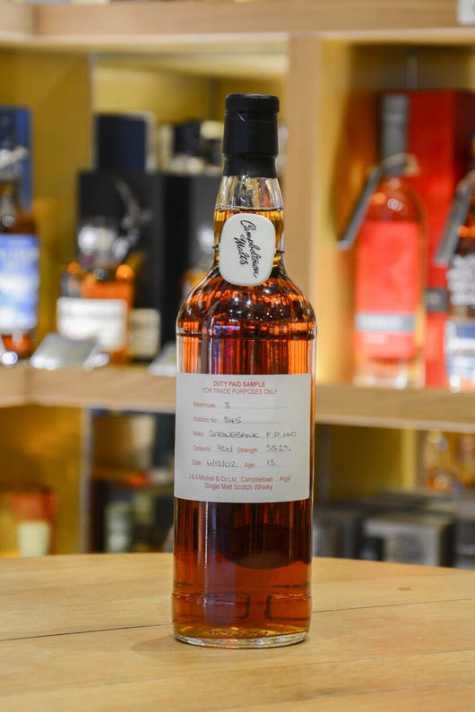 Springbank 13 Year Old Duty Paid Sample