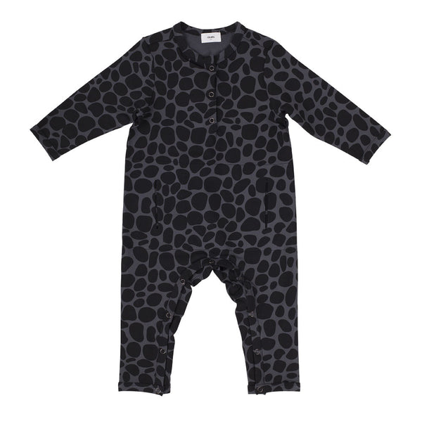 Chillax Romper - Snow Leopard Grey