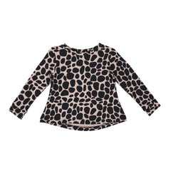 The J Tee - Snow Leopard Blush
