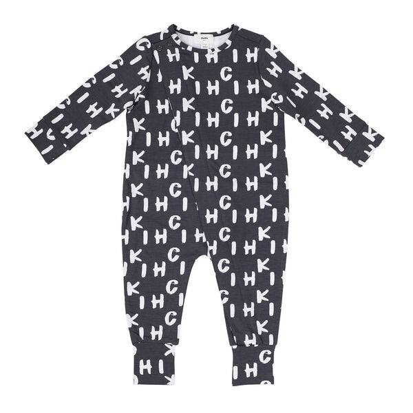 Wrap Front Onesie - Chi Khi Grey