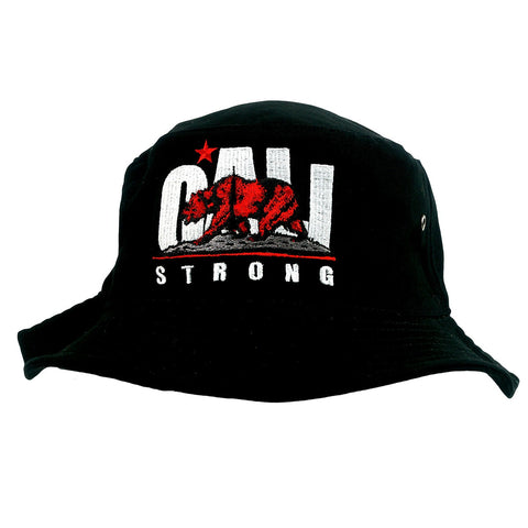 CALI Strong Original White Red Bucket Hat - Bucket Hat - CALI Strong