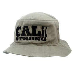 CALI Strong State Mono Olive Bucket Hat - Bucket Hat - CALI Strong