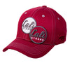 Classic Curved Brim Morale Patch Red Gray - Headwear - CALI Strong