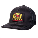 Original Flat Bill Trucker Hat Morale Patch Black White - Headwear - CALI Strong
