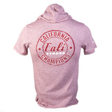 Champ Performance Hooded T-shirt Heather Pink - T-Shirt - CALI Strong