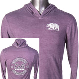 Word Bear Performance Hooded Shirt Heather Purple - T-Shirt - CALI Strong