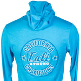 Word Bear Performance Hooded Shirt Turquoise - T-Shirt - CALI Strong