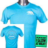 Bear Champ T-Shirt Heather Turquoise Glow - T-Shirt - CALI Strong