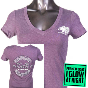 Bear Champ V T-Shirt Heather Lilac Glow - T-Shirt - CALI Strong