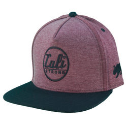 CALI Classic Wine Heather Flat Bill Snapback