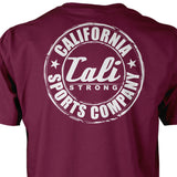 CSC Classic Glow In The Dark T-shirt Burgundy - T-Shirt - CALI Strong