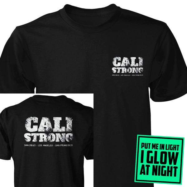 CALI Strong Block Glow In The Dark T-shirt Black - T-Shirt - CALI Strong