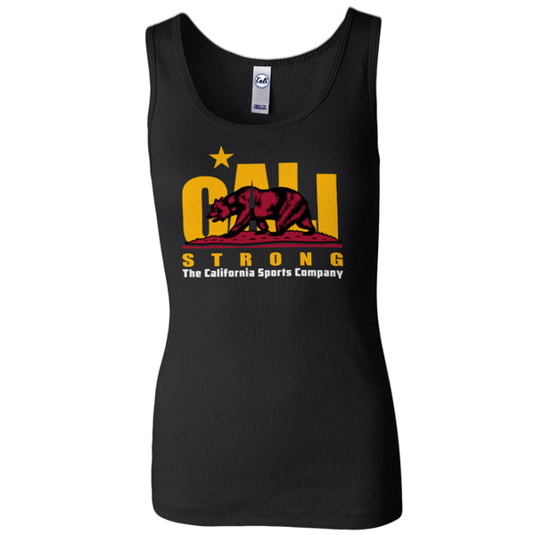 CALI Strong Trojan Women's 2x1 Rib Tank Top - Tank Top - CALI Strong