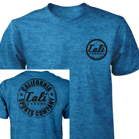 CSC Classic Performance T-shirt Heather Blue Black - T-Shirt - CALI Strong