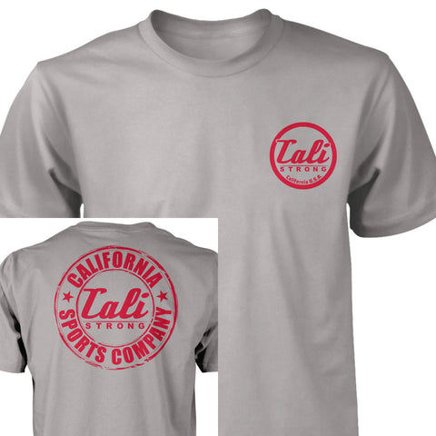 CSC Classic T-shirt Light Grey Red - T-Shirt - CALI Strong