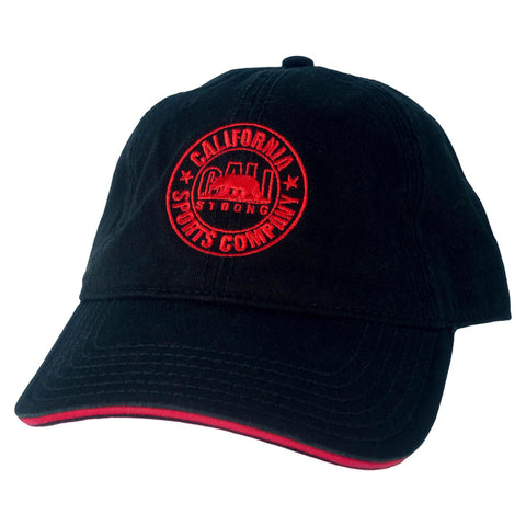 CSC Dad Hat Red Black - Dad Hats - CALI Strong