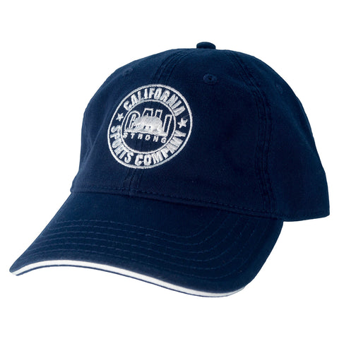CSC Dad Hat White Navy - Dad Hats - CALI Strong