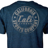 CSC Performance T-shirt Heather Dark Blue Reflective - T-Shirt - CALI Strong