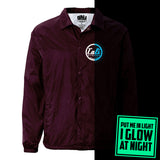 CALI Strong Classic Glow In The Dark Coach Jacket Burgundy - Jacket - CALI Strong