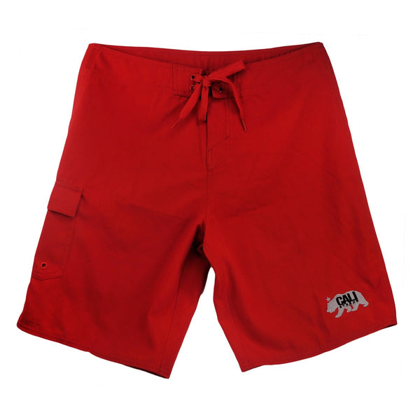 West Coast Boardshorts Red - Apparel - CALI Strong