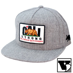 CALI Strong Original Tactical Hat Flat Bill & Morale Patch Gray Heather - Headwear - CALI Strong