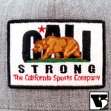 CALI Strong Original Tactical Hat Flat Bill & 3 Morale Patches Gray Heather - Headwear - CALI Strong