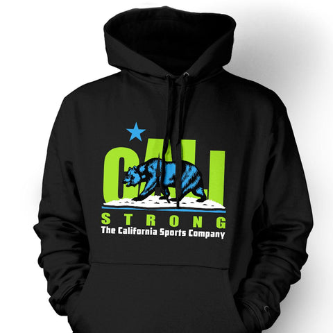 CALI Strong Original Lime Black Hoodie Sweatshirt - Apparel - CALI Strong
