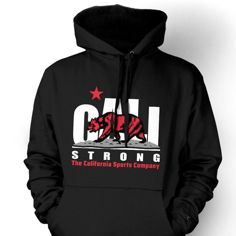 CALI Strong Original White Red Hoodie Sweatshirt - Hoodie - CALI Strong