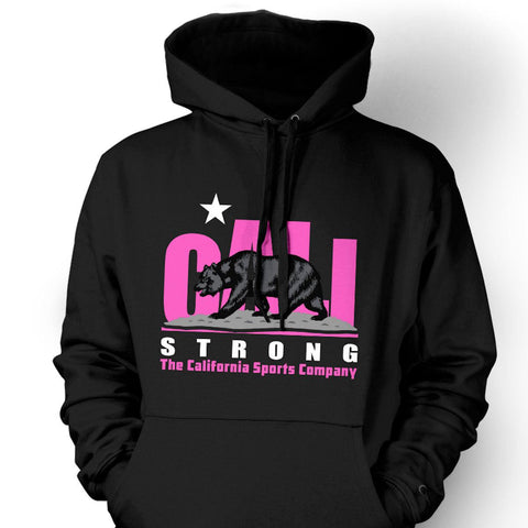 CALI Strong Original Pink Black Hoodie Sweatshirt - Hoodie - CALI Strong