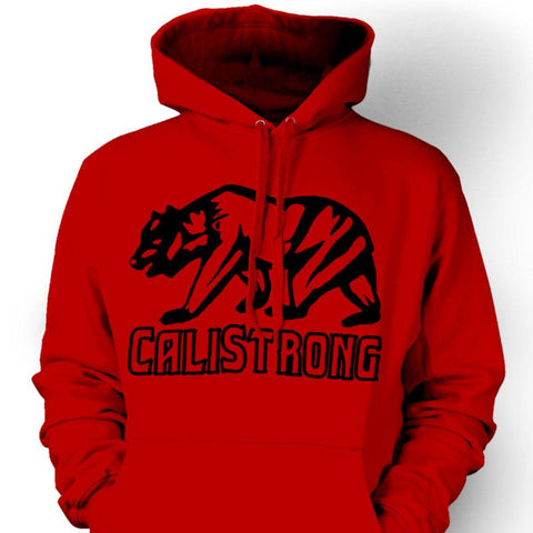 CALI Strong See Thru Bear Black Red Hoodie Sweatshirt - Hoodie - CALI Strong