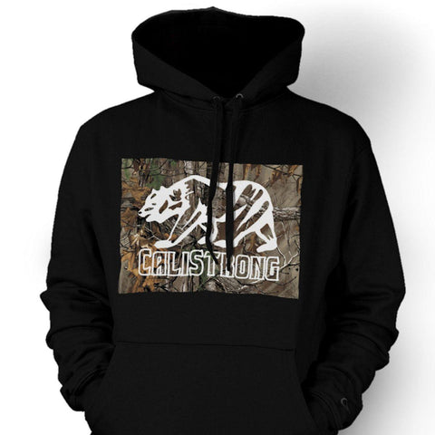 CALI Strong Tree Camo Black Hoodie Sweatshirt - Hoodie - CALI Strong