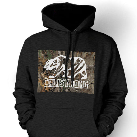 CALI Strong Tree Camo Grey Hoodie Sweatshirt - Hoodie - CALI Strong
