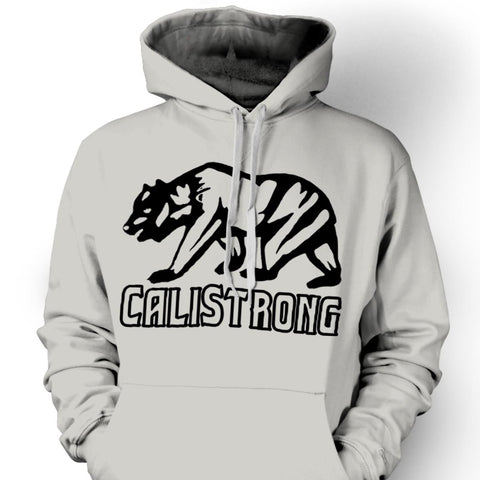 CALI Strong See Thru Bear Black Grey Hoodie Sweatshirt - Hoodie - CALI Strong