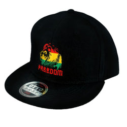 Freedom Rasta Flat Bill Snapback Cap - Headwear - CALI Strong