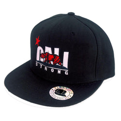 CALI Strong Original White Red Flat Bill Snapback - Headwear - CALI Strong
