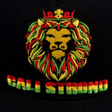 King Rasta Flat Bill Snapback Cap - Headwear - CALI Strong