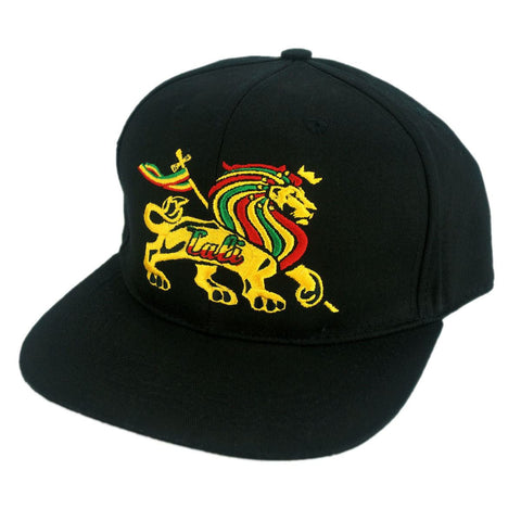 Royal Rasta Flat Bill Snapback Cap - Headwear - CALI Strong